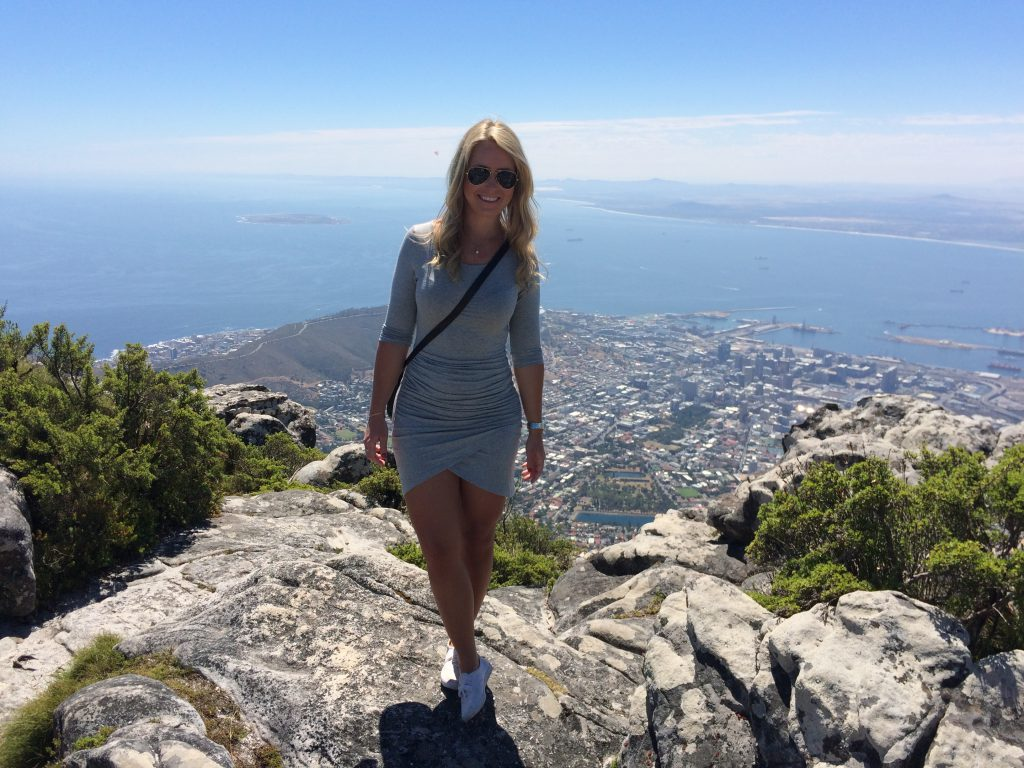 A picture of me on a hill at Cape Town in South Africa