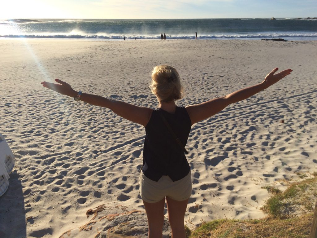 me at Camps bay beach