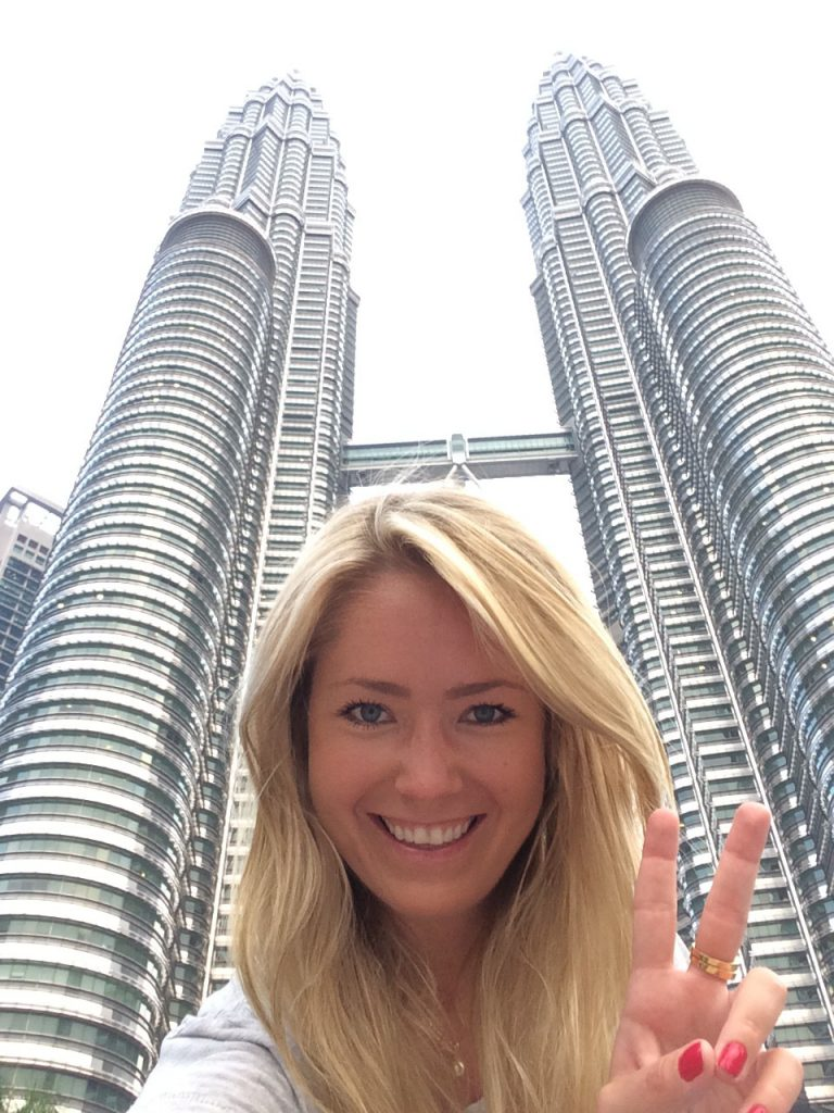 me at the base of Petronas Towers