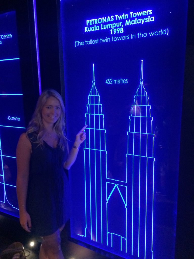 me with the blue prints of Petronas towers
