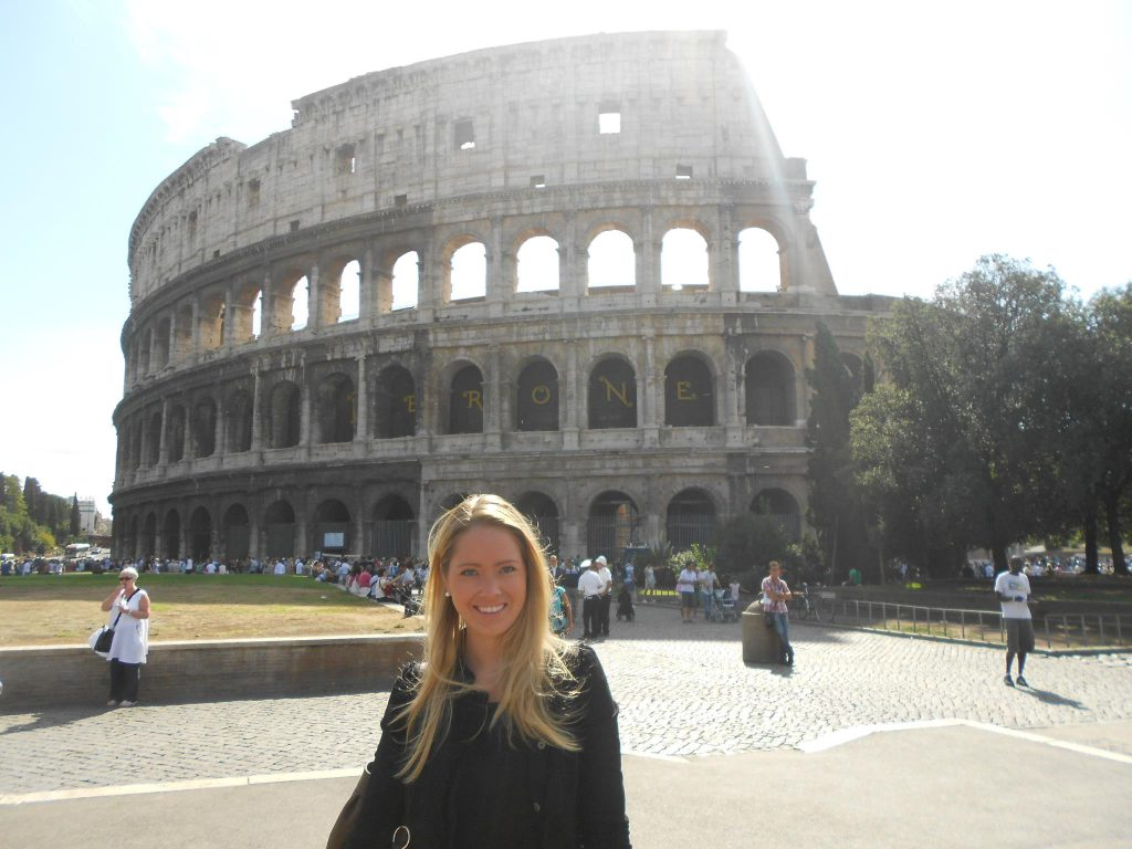 a picture of me at the Coliseum in Rome