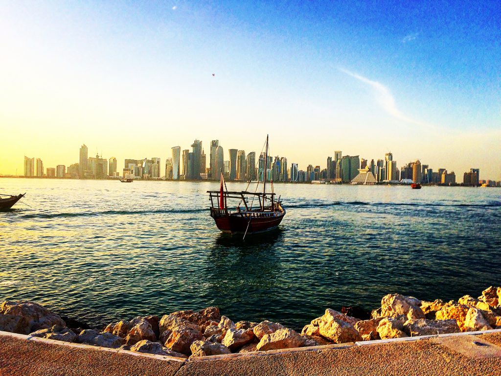 a picture of a boat in Doha