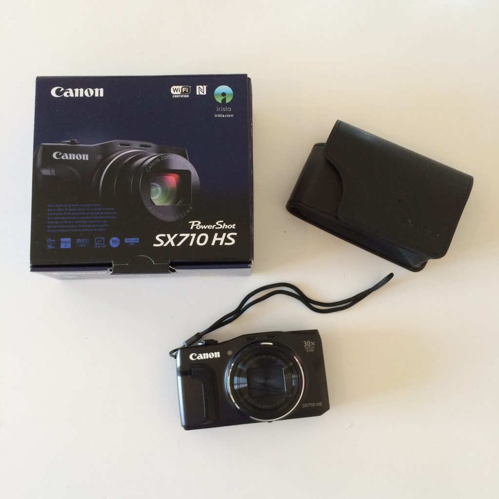 A picture my canon SX710 HS and its box