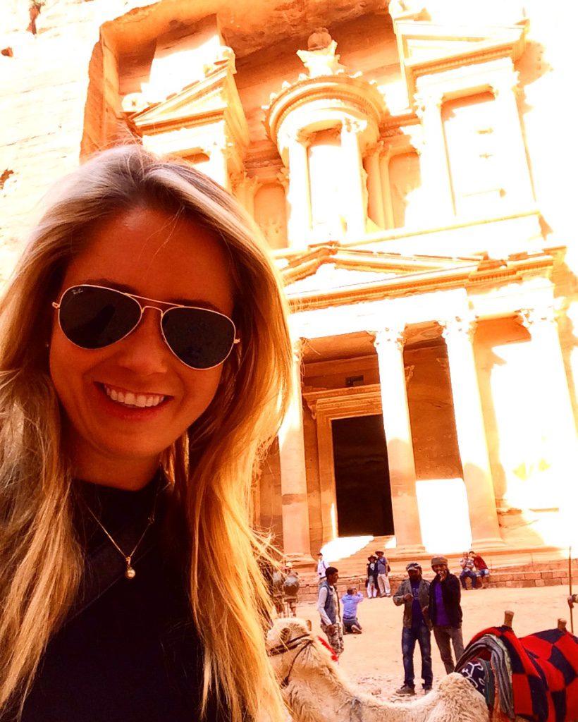 A picture me in Petra in Jordan