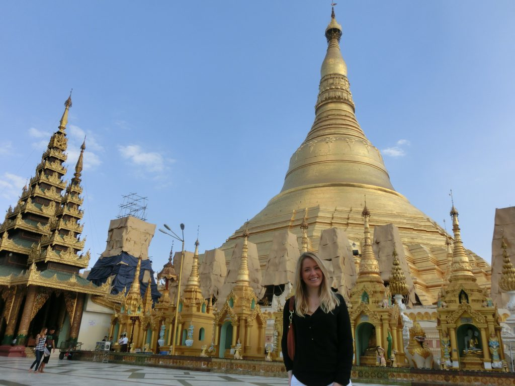 A picture of me at the Burma temple Myanmar