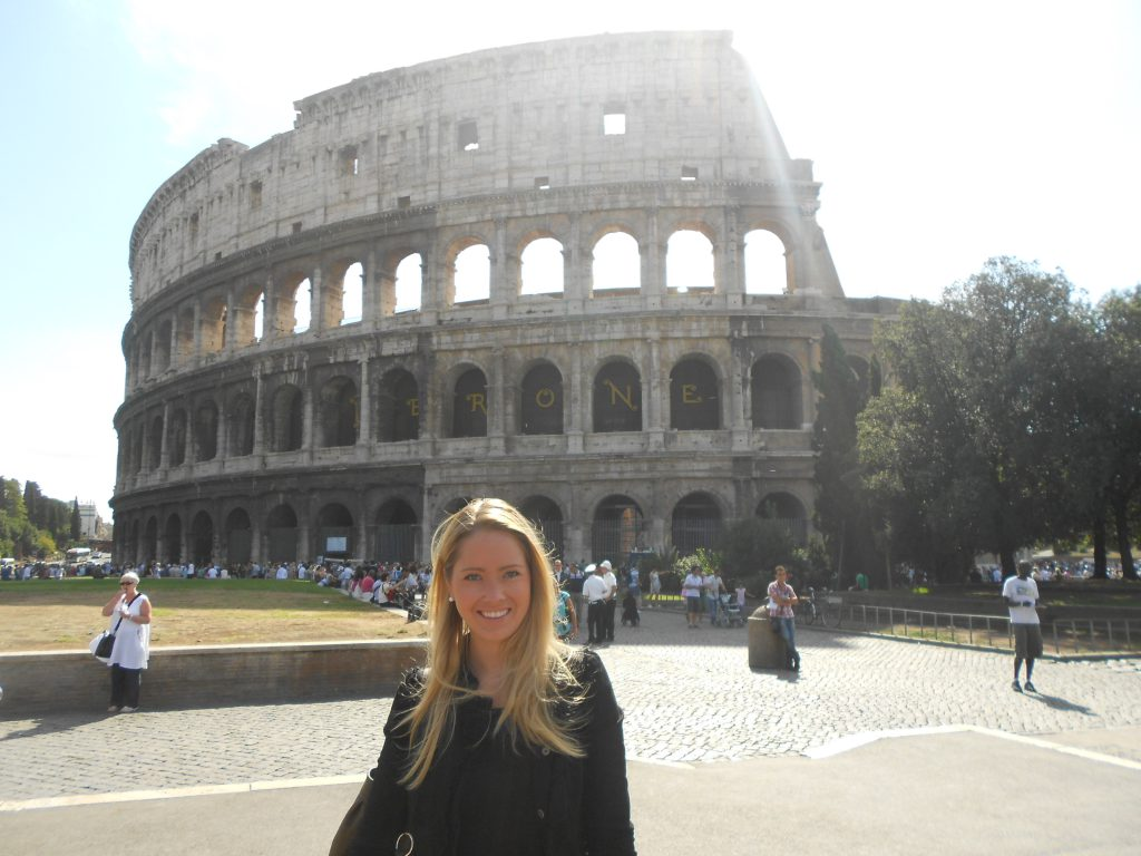 A picture of me at the Colosseum in Rome