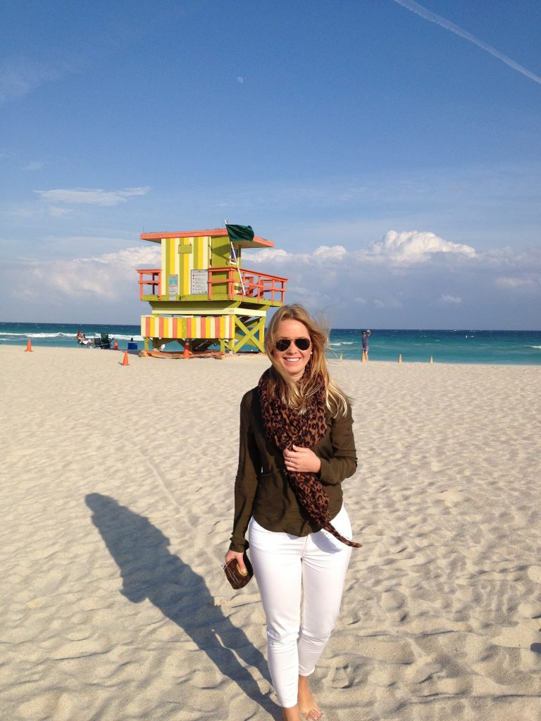 A picture of me at the Miami beach Florida