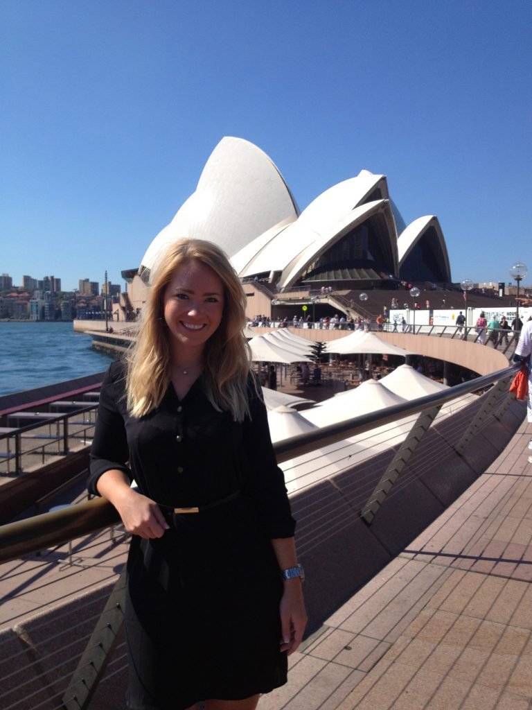 A picture of me at the Opera House Sydney harbour Australia