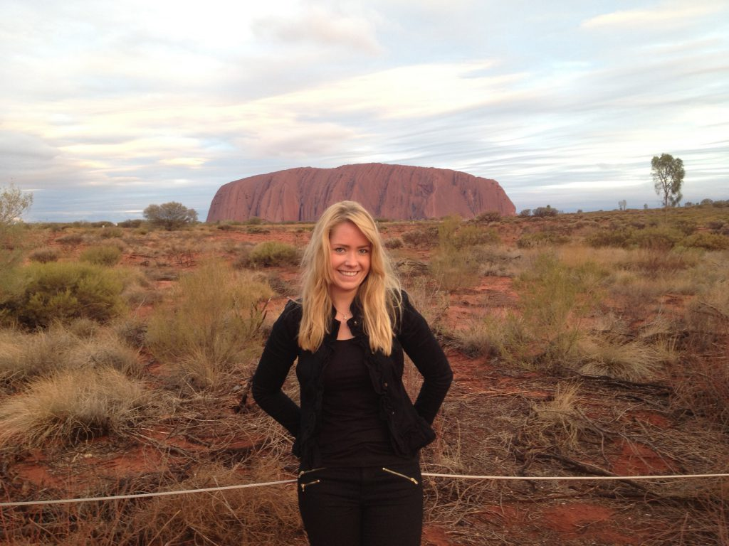 me at the ayers rock in Australia