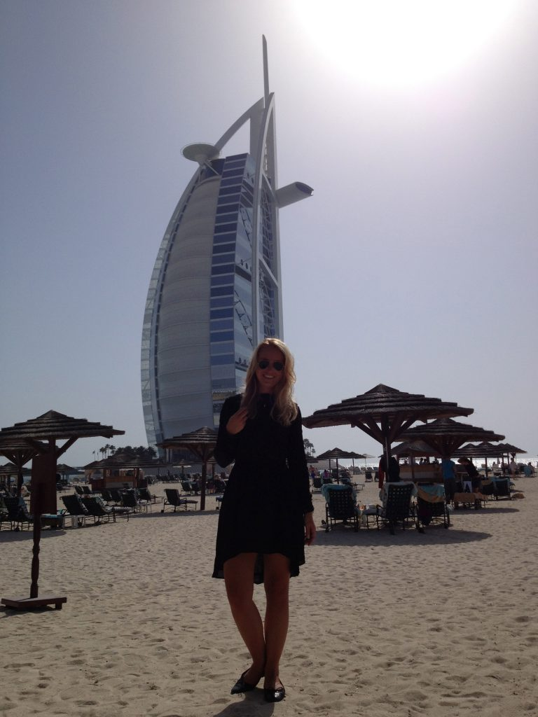 A picture of me at the Jumeriah beach Dubai