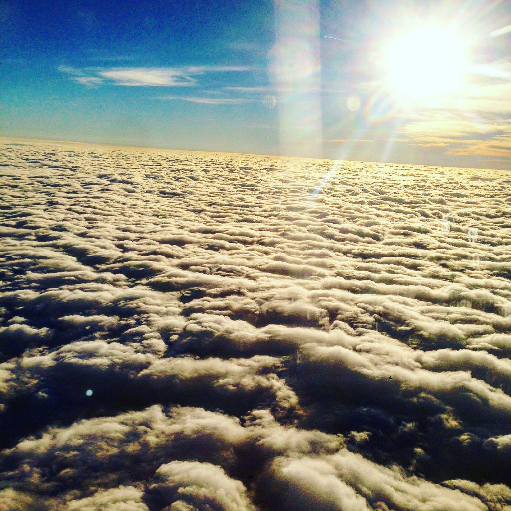 clouds from the sky