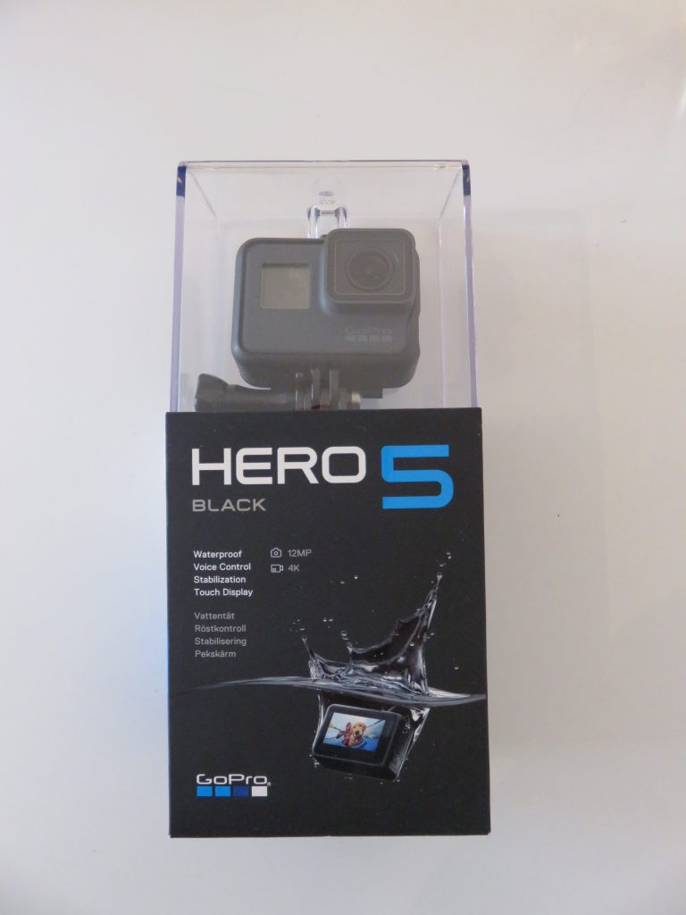 A picture of my Hero 5 GoPro camera in its box