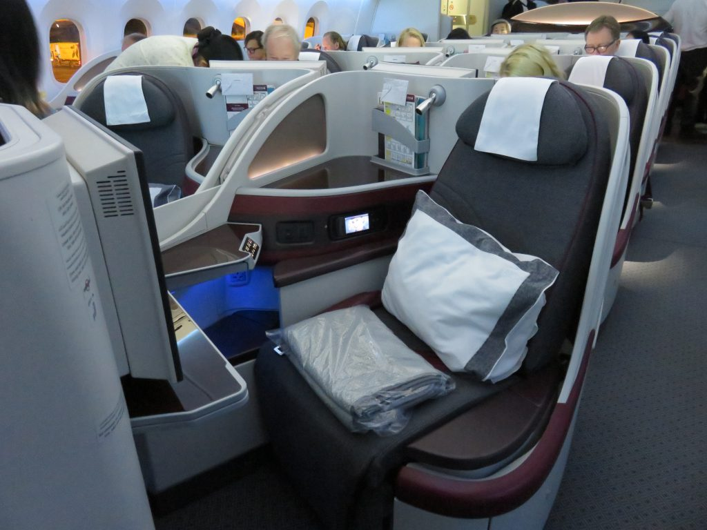a picture of seats in business class