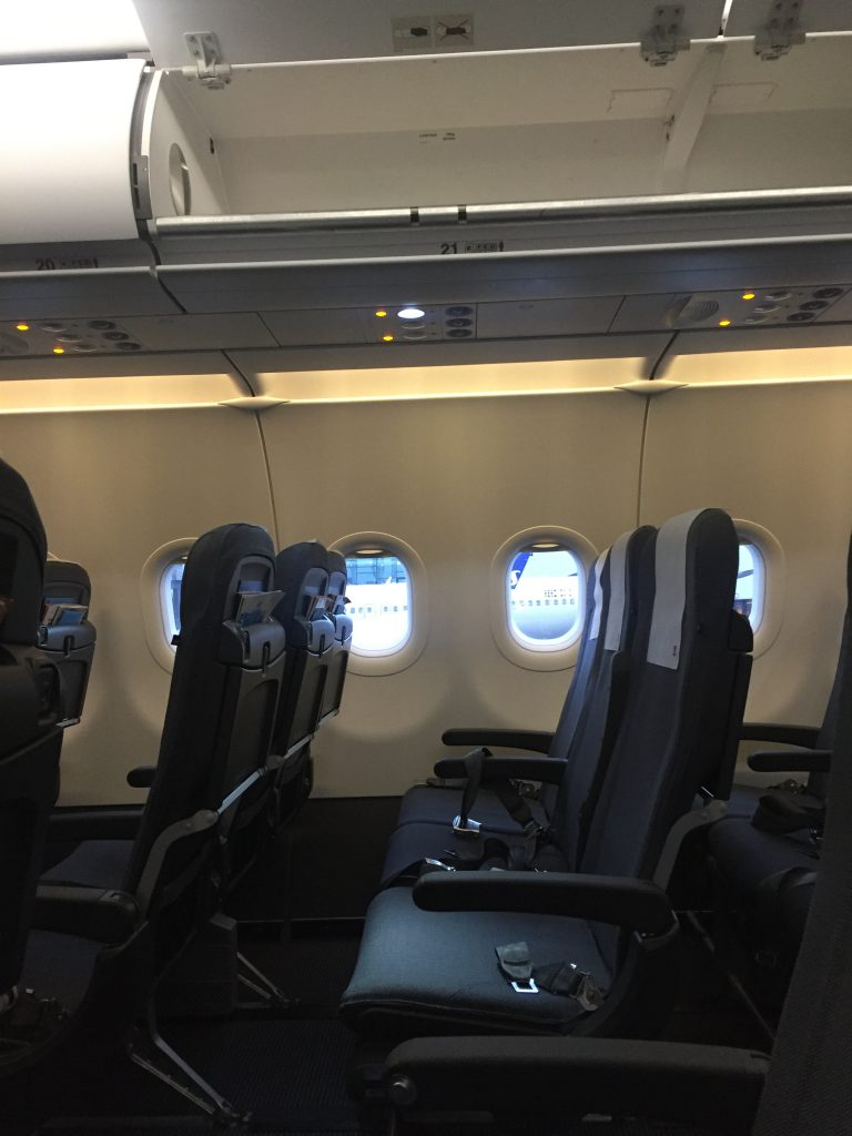 a picture of the overhead compartment