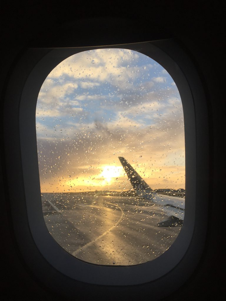 a picture of the runway during taxi