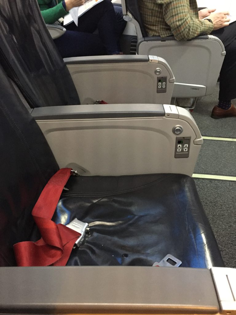 a picture of the seats in the plane