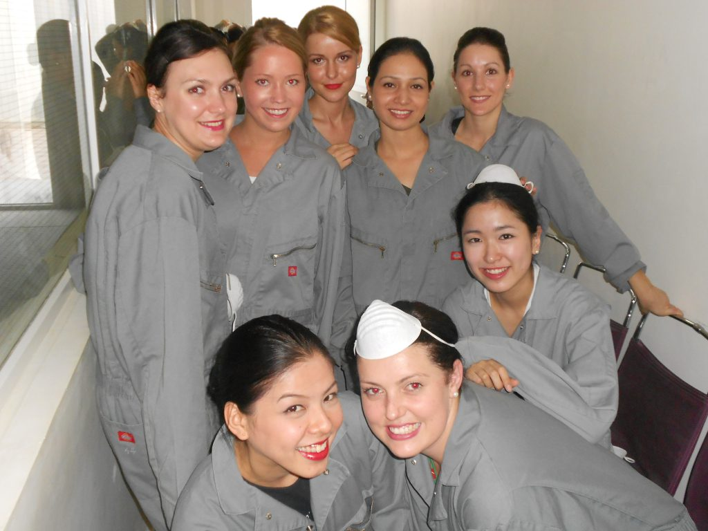 a picture of my colleagues and I in training uniforms