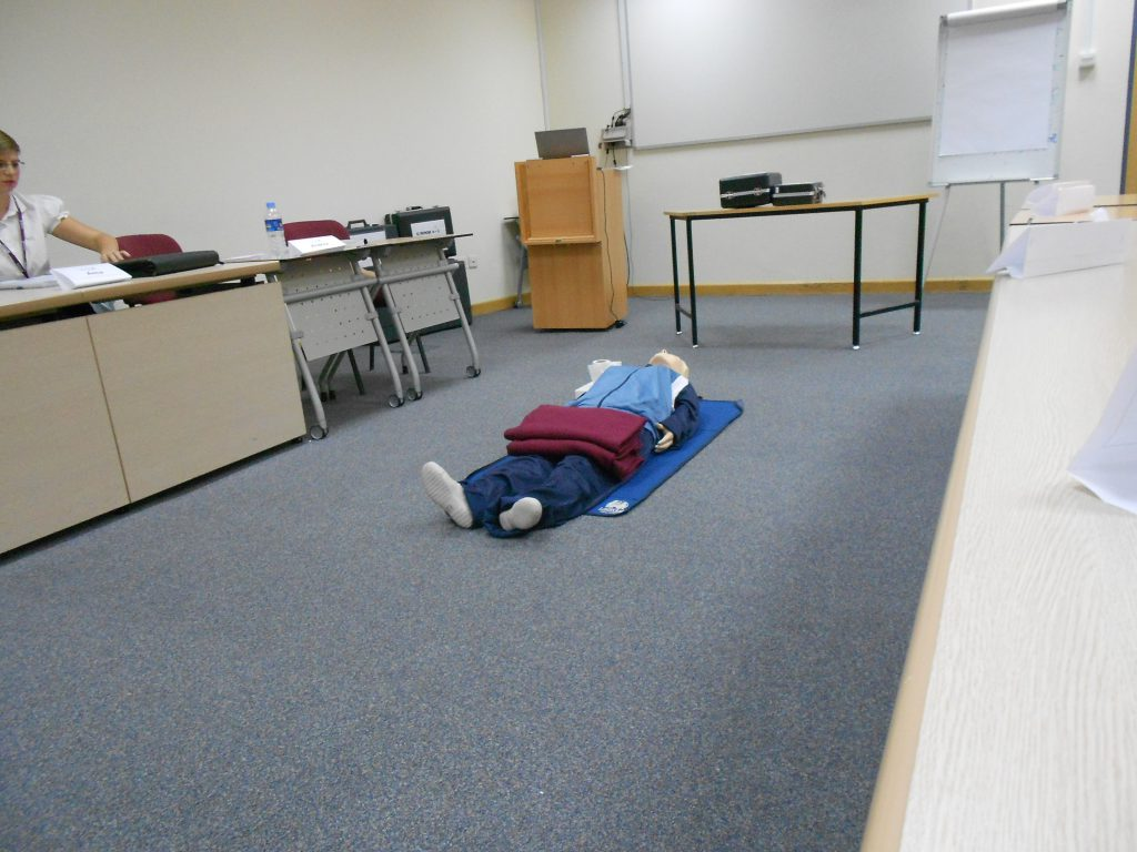 a picture of the dummy used in training in class