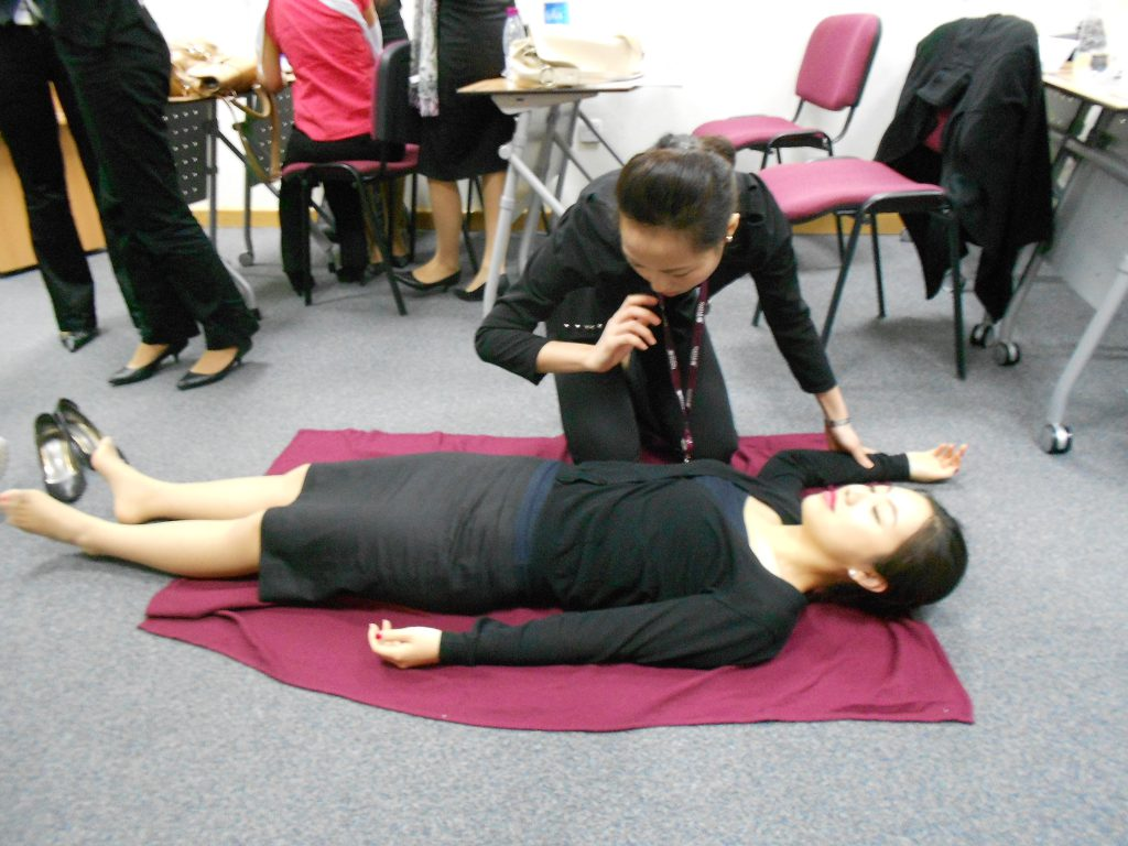 a picture of my colleagues training for health and safety