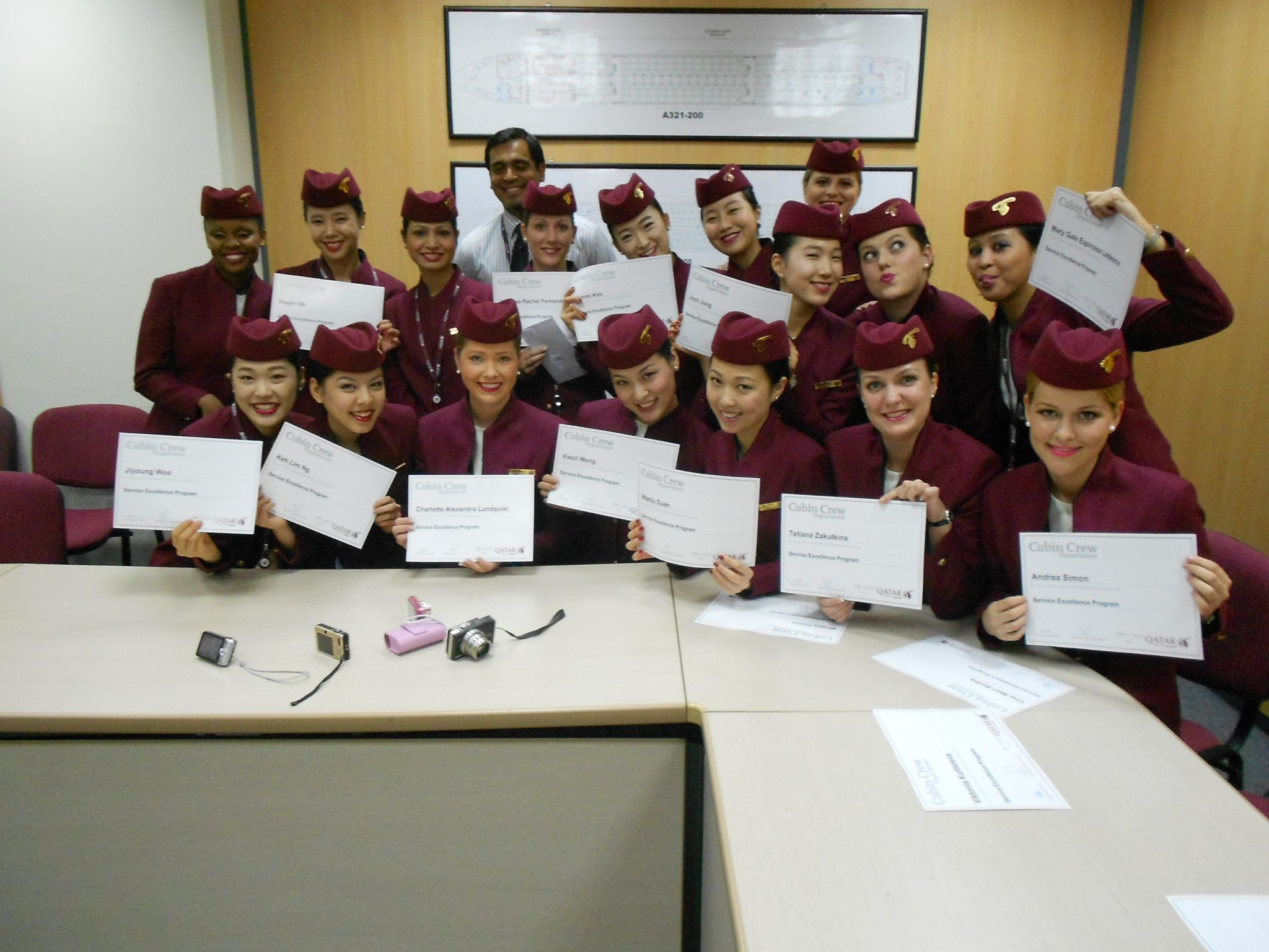 Flight attendant at Qatar Airways