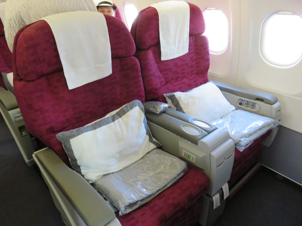 business class seats in Qatar airlines