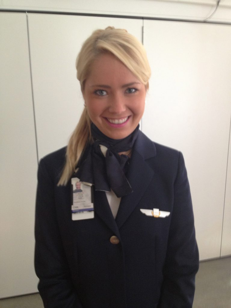 a picture of me in uniform of SAS airlines
