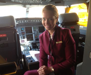 Flight attendant Qatar Airways