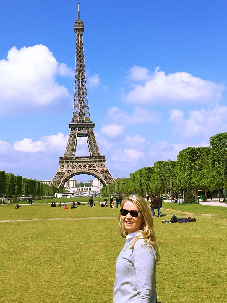 another picture of me at the Eiffel tower