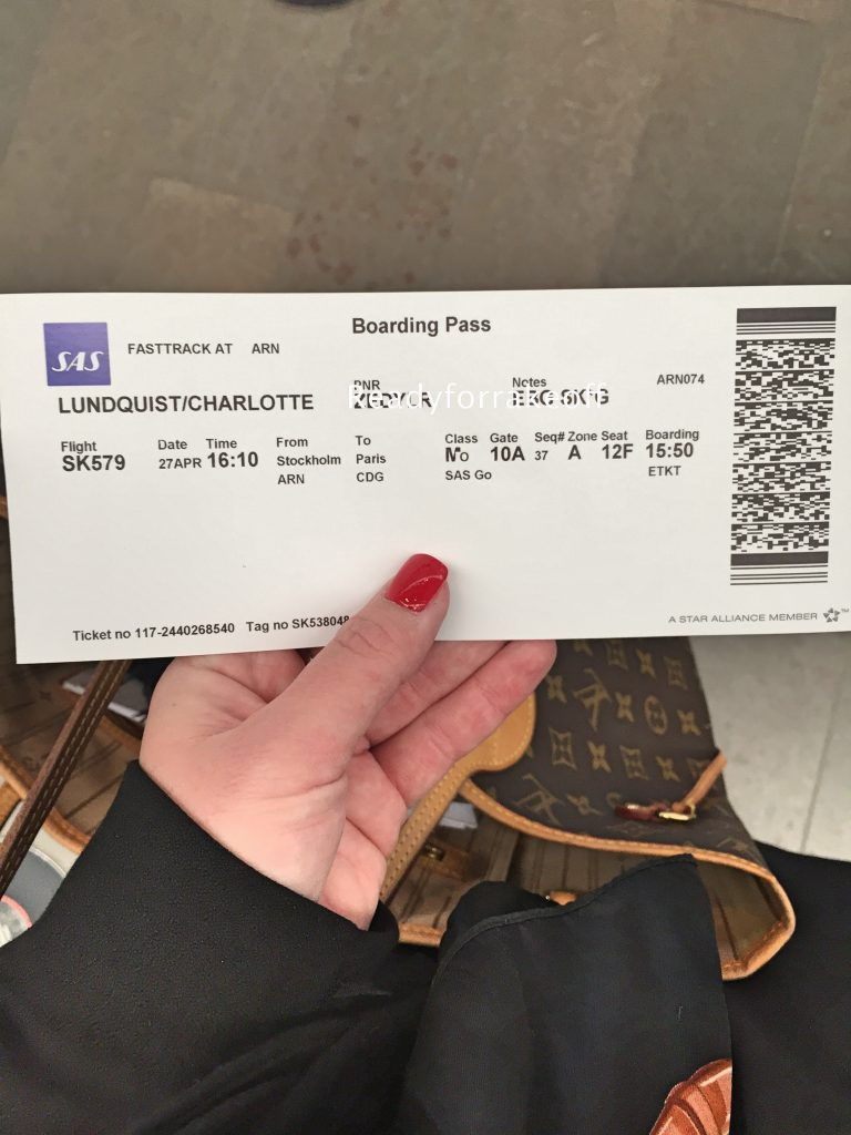 a picture of my boarding pass