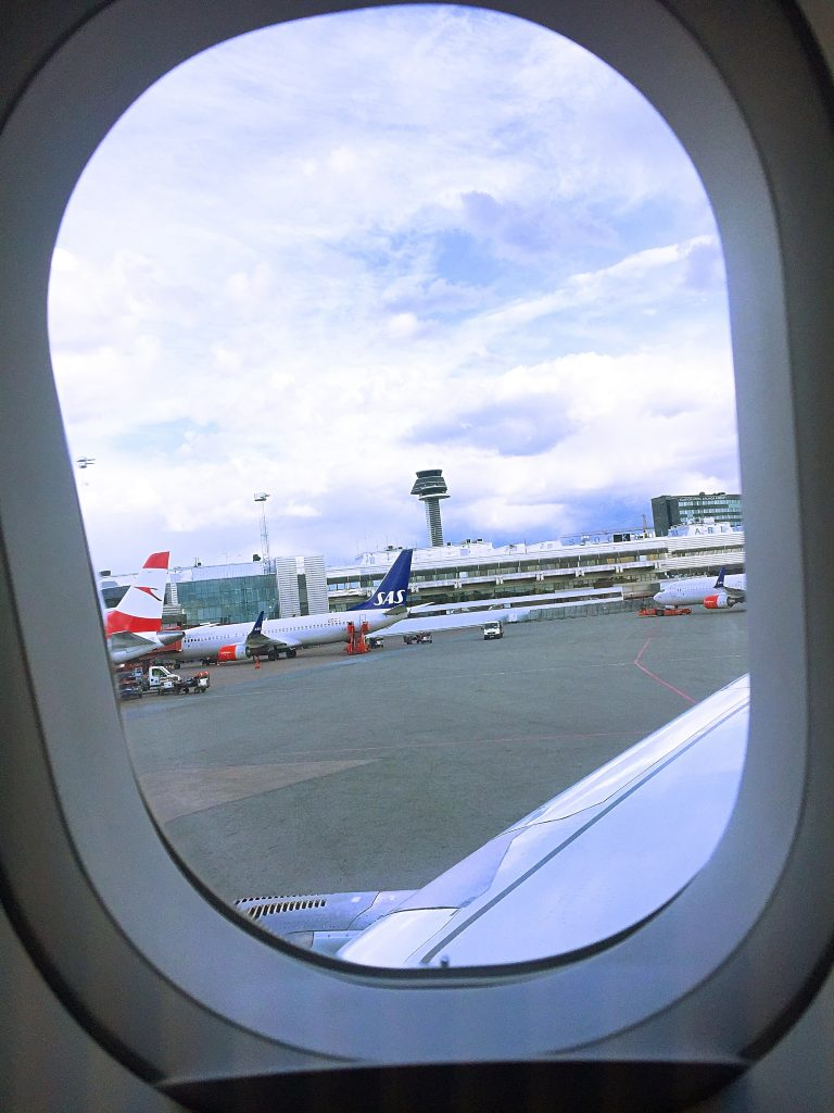 a picture of the tarmac from my window during taxi