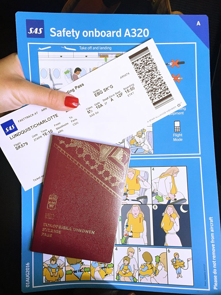 a picture of my passport and boarding pass