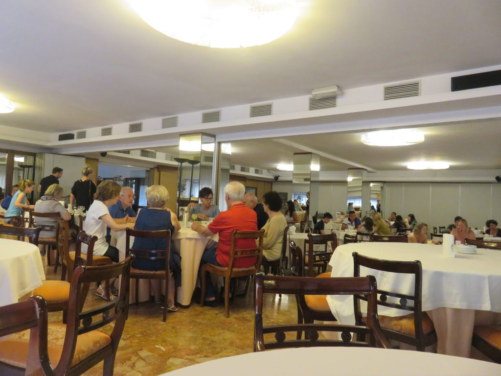 a picture of hotel guesting dining at the hotel