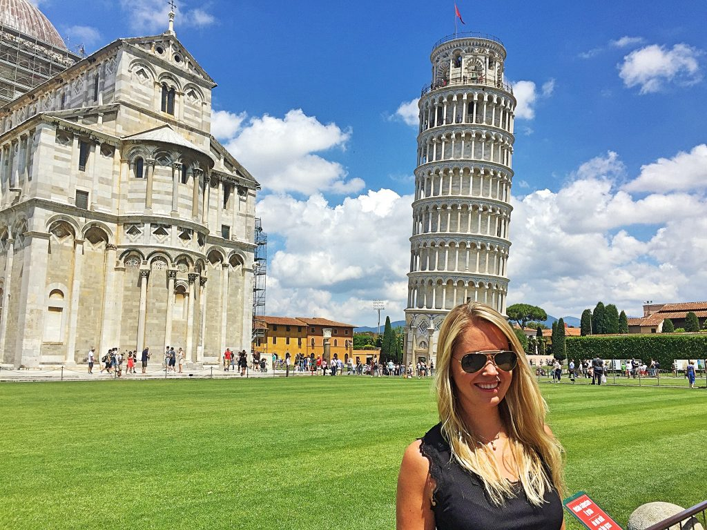 A picture of me at the Leaning tower of Pisa