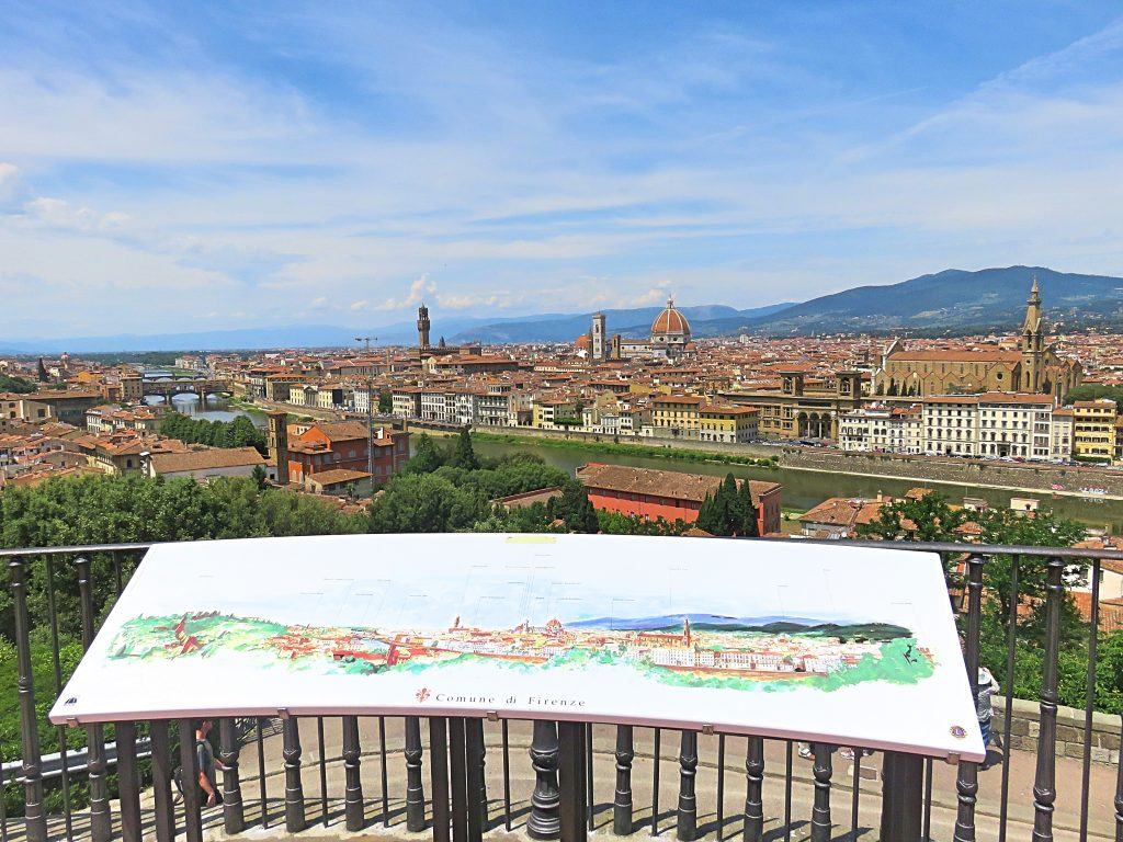 A picture of a painting of the view of Florence from the hill