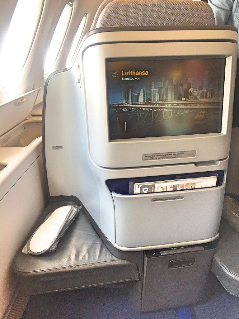 Inflight entertainment on a big screen