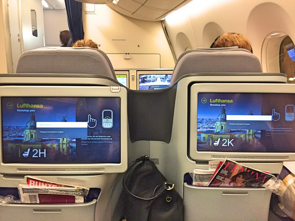 Big screens for in flight entertainment