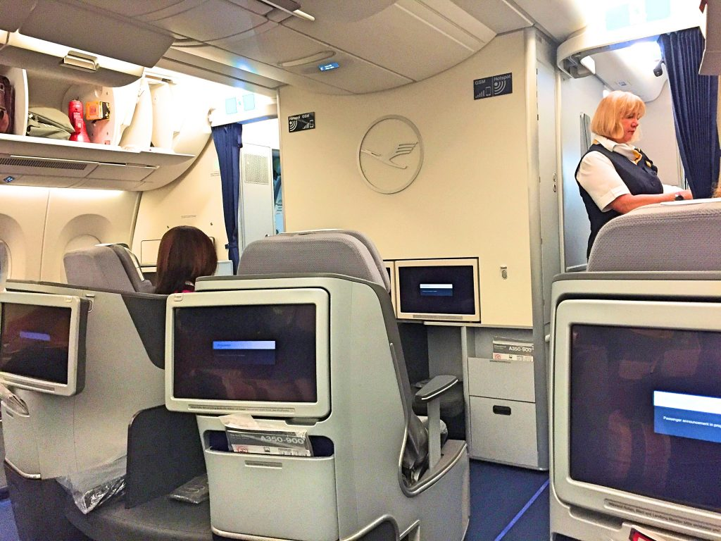 Another picture of the business class cabin from my seat view