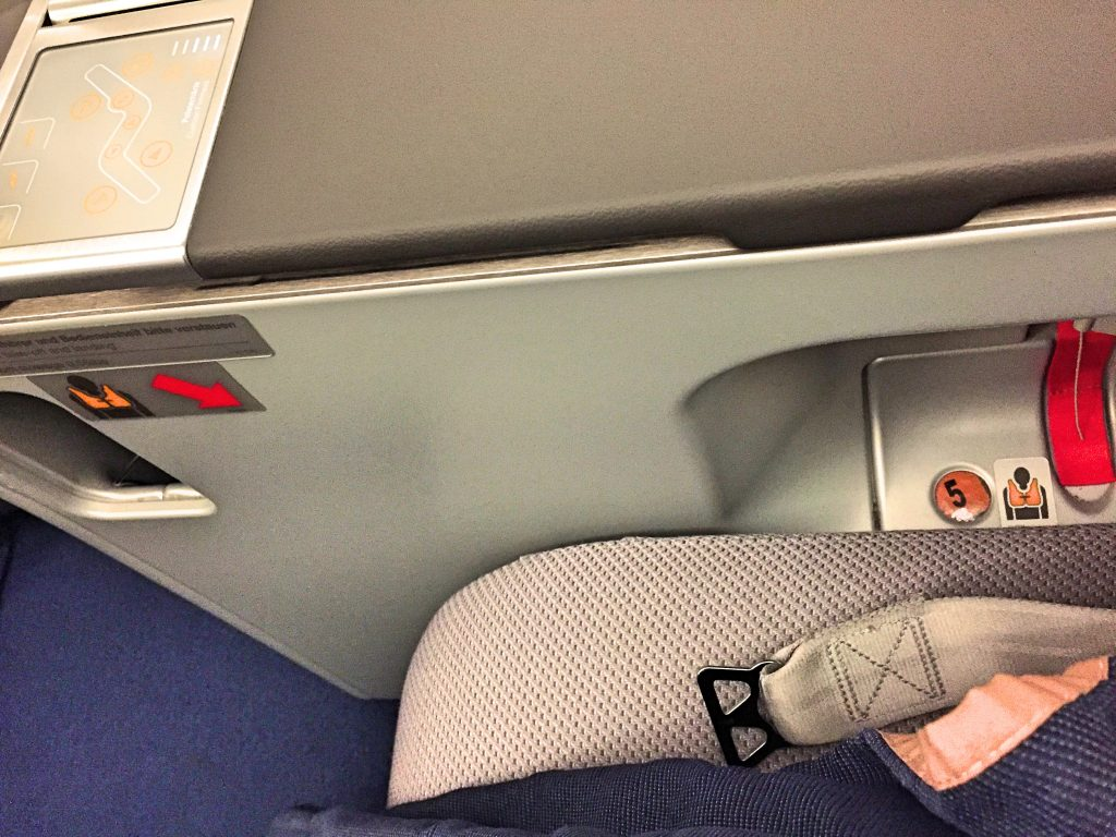 A picture of the seat and seat belt