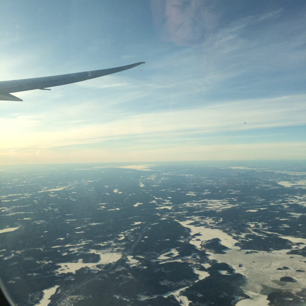 A picture of Stockholm city from above in winter