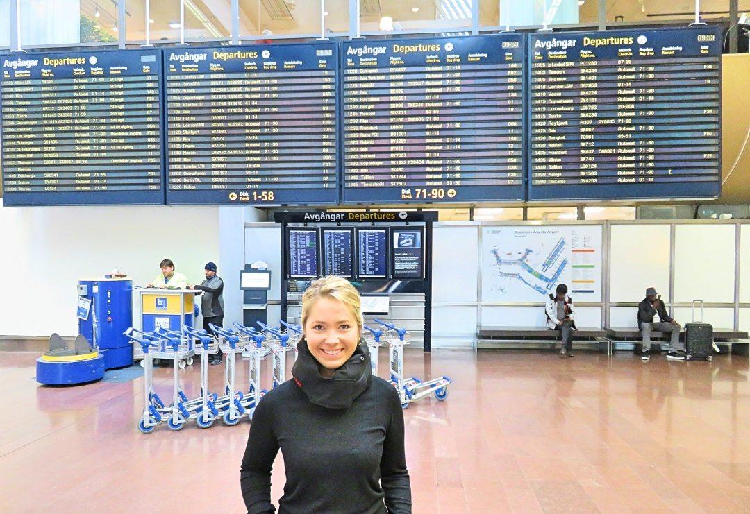 Arlanda Flygplats Ovaer Nackkudde