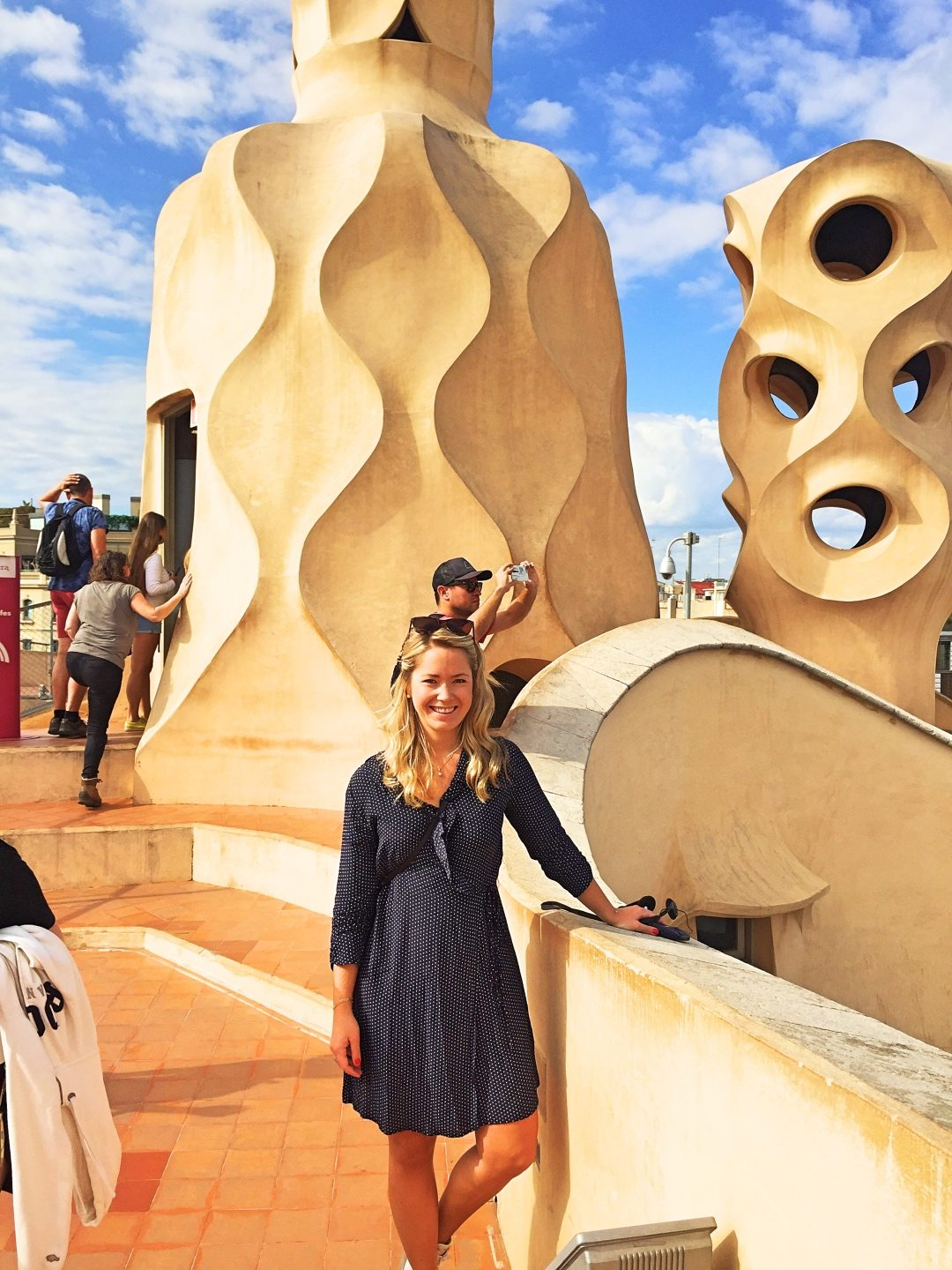 Another picture of me with the sculptures of Casa Milá