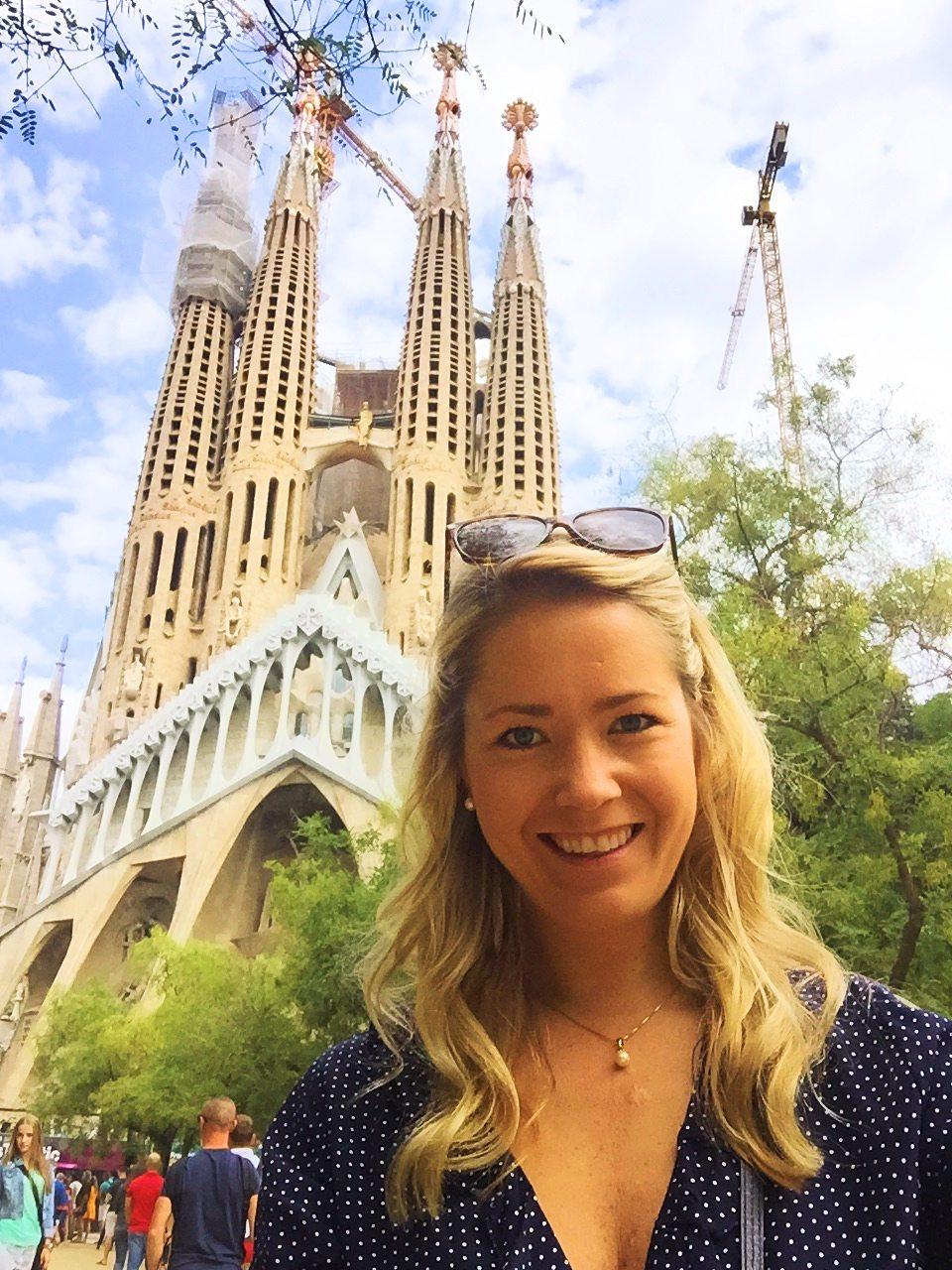 Me taking a selfie at La Sagrada Familia