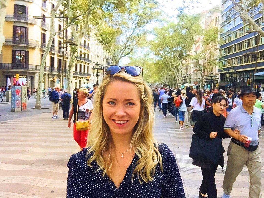 A picture of me at La Ramblas Barcelona