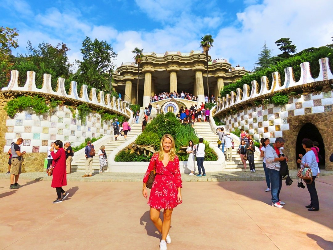 A picture of me with the full view of Park Guell