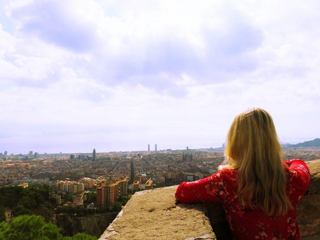 Beautiful sky above Barcelona