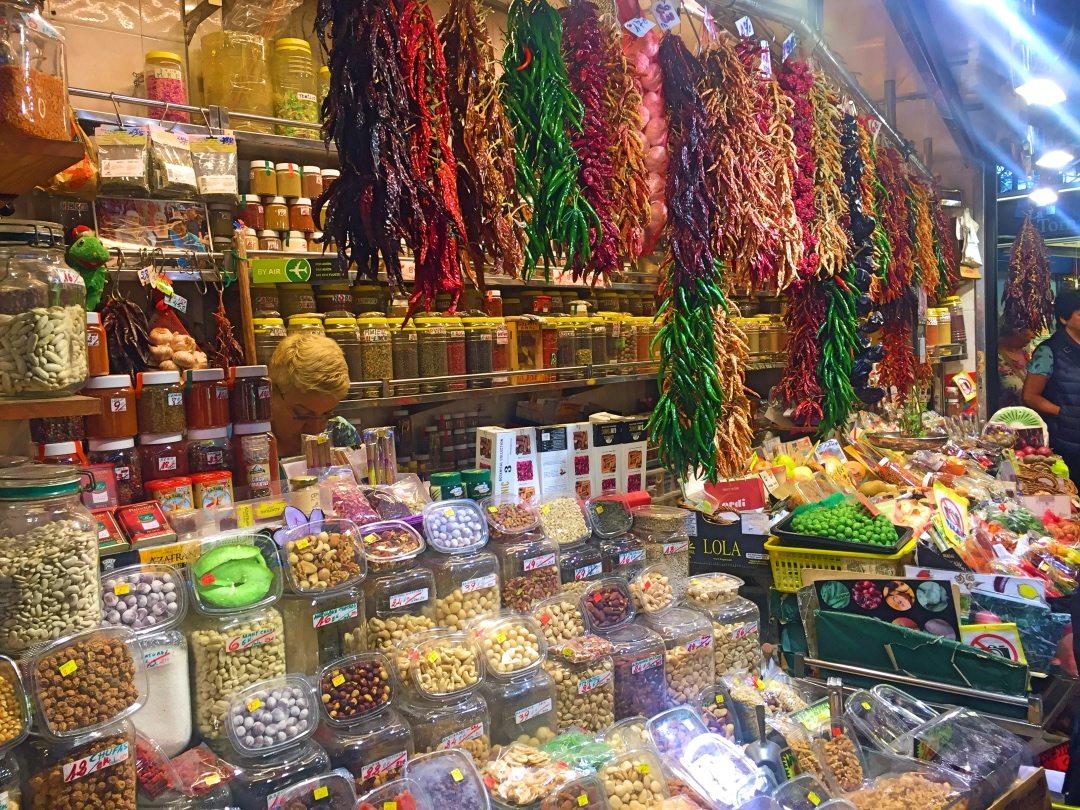 Spice shop at La Boqueria Barcelona