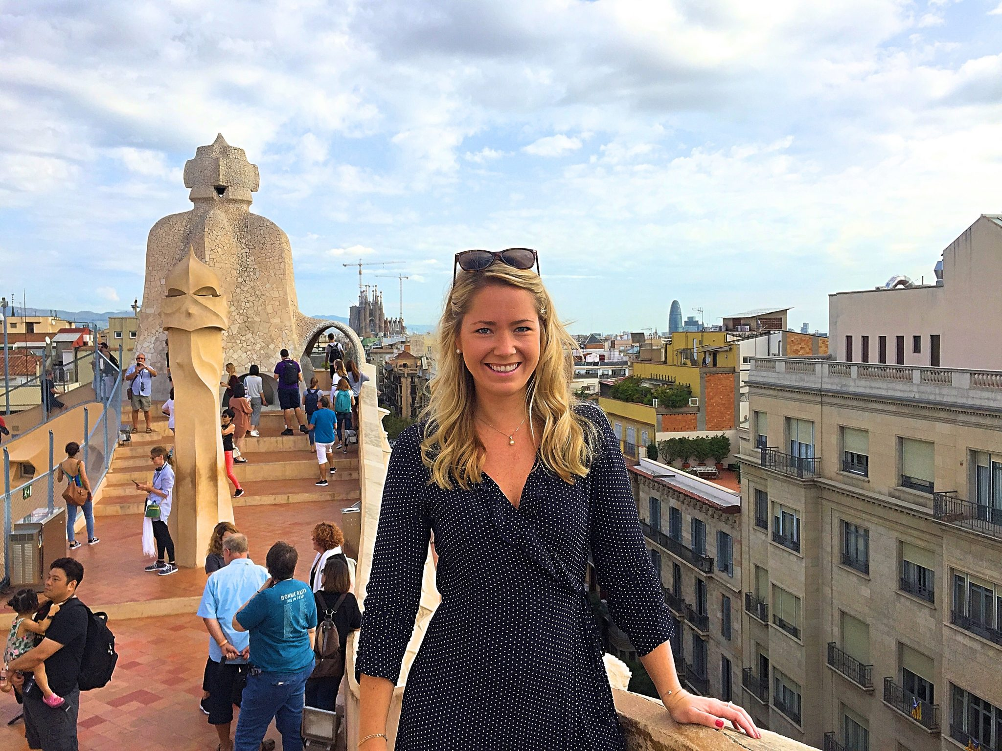 A picture of me on the roof of Casa Milá