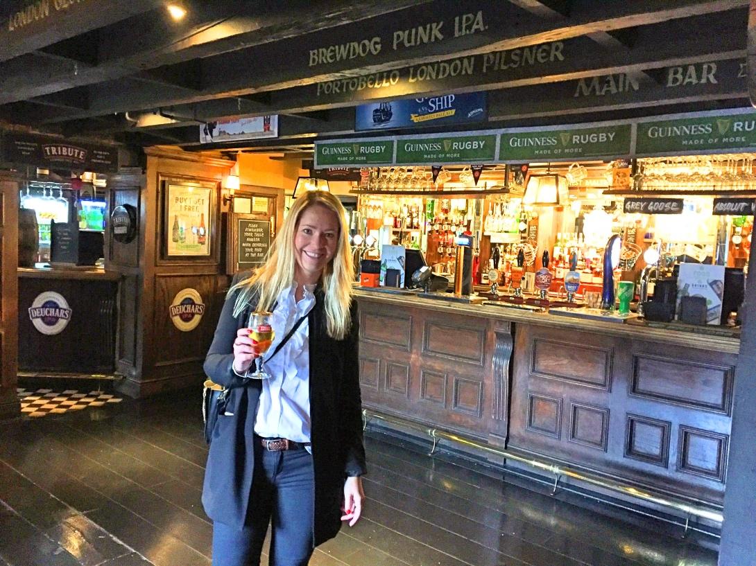 Brittisk pub i London
