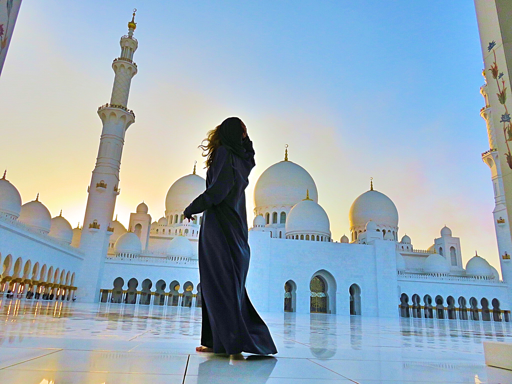 The mosque in Abu Dhabi