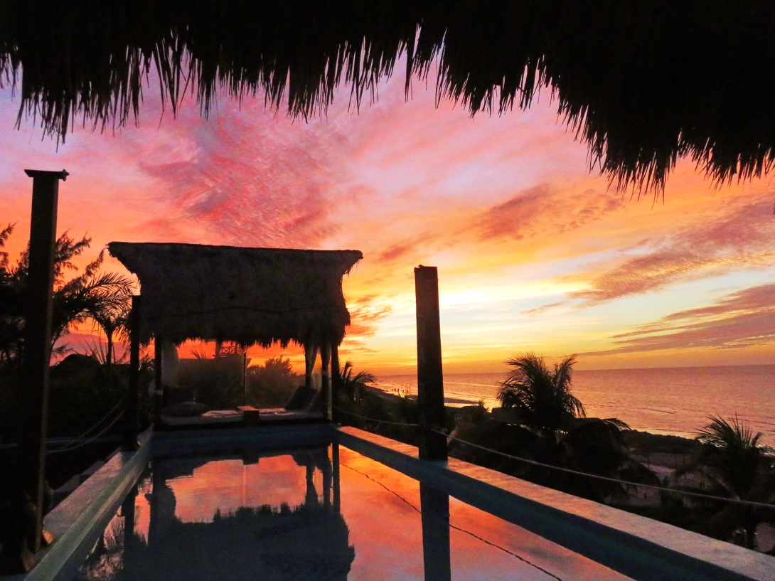 Sunset at isla de Holbox